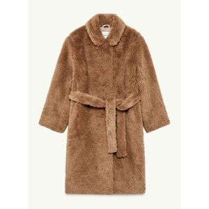 NEW Aritzia Babaton Fur Teddy Belted Coat | Small
